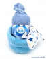 "Preview: Baby Geschenk ""Windelbaby in the Box"" mit Schnuffeltuch blau"