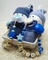"Mobile Preview: Babygeschenk ""Windelbabys Boys Twins"", Farbe blau"